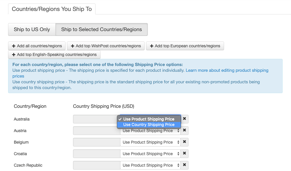 How do I configure my shipping settings? – Wish for Merchants
